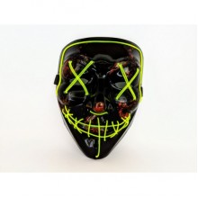 Неоновая маска Purge Mask Судная ночь Желтая