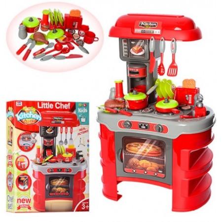 Детский игровой набор детская кухня 008-908A с кофеваркой (высота 69 см,35 аксессуаров)