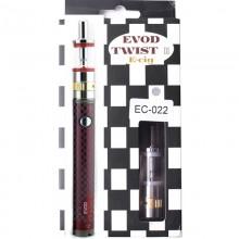 Сигарета электронная 1600mah EVOD Twist 3 Red Aerotank M16 Micro USB с регулятором мощности