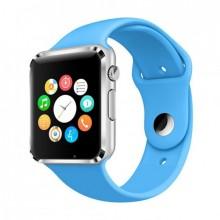 Умные смарт часы Smart watch A1 + фитнес-браслет + плеер Голубой