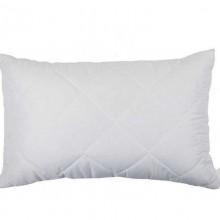 Белая стеганая подушка из бамбукового волокна на замке 50х70 T-54802