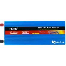 Преобразователь напряжения (инвертор) UKC 12-220V 1200W с чистой синусоидой