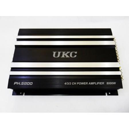 Автомобильный усилитель звука UKC PH.5800 8000W 4-х канальный