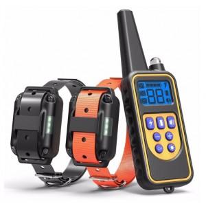 Электроошейник для собак Original Training Collar RT-600  1 пульт + 2 ресивера ошейник антилай – пульт для дрессировки до 250м, контроль вибростимуляцией, звуком и импульсами тока для коррекции поведения собак любых пород